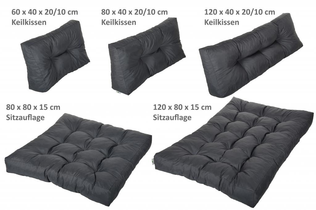 palettenkissen sitzkissen 120x80x15 80x80x15 cm r ckenkissen 120x40 80x40 60x40 ebay. Black Bedroom Furniture Sets. Home Design Ideas