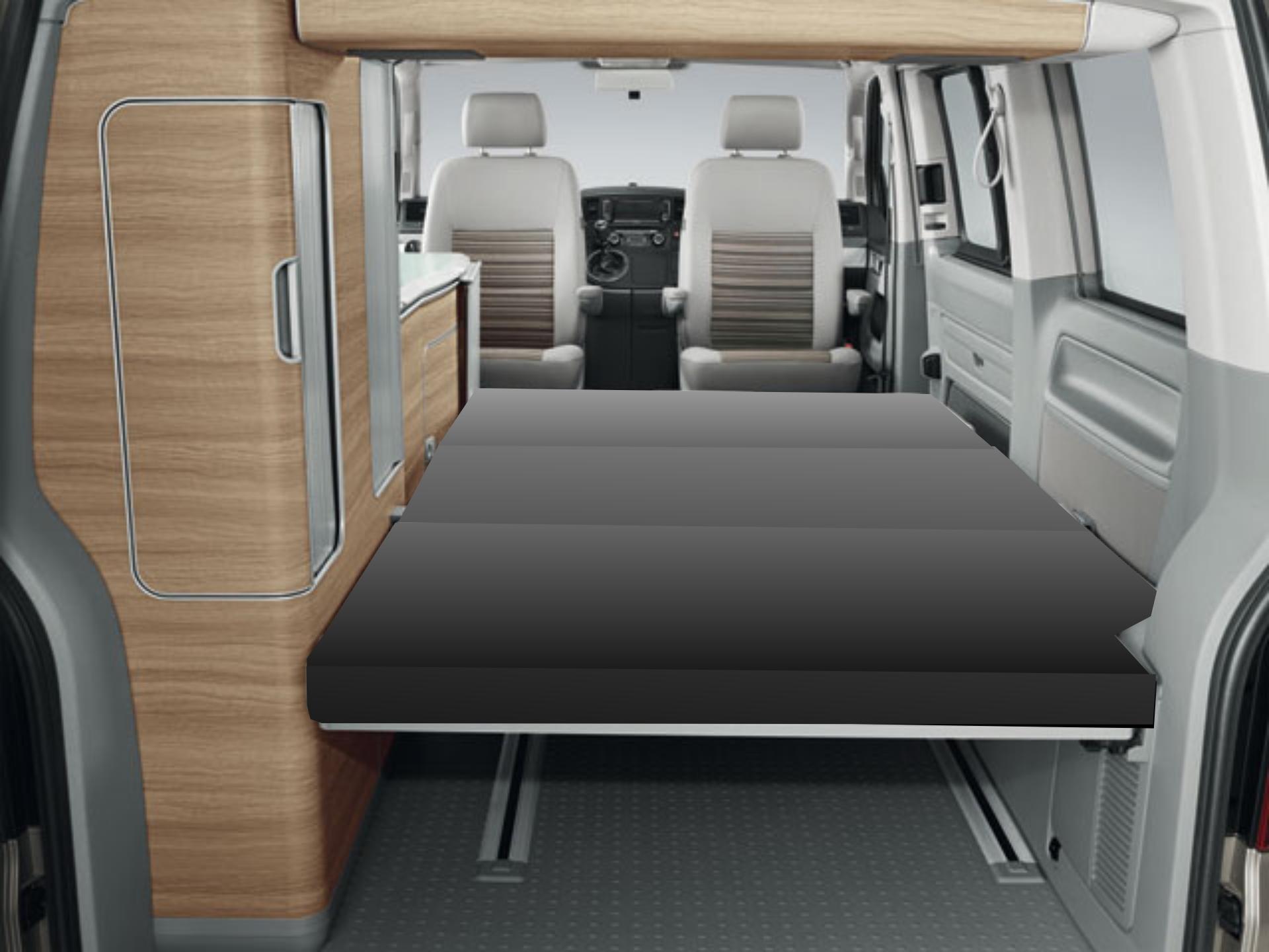 matratze vw t4 t5 t6 schlafauflage bett klappmatratze california 200 x 115 x 8 c. Black Bedroom Furniture Sets. Home Design Ideas